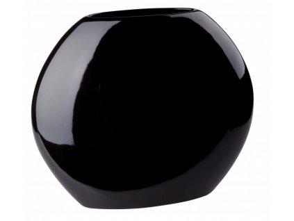 Váza even 24 x 9,5 cm černá - by inspire