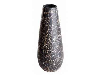 Váza 14 x 34 cm mat. černá/smetanová - by inspire