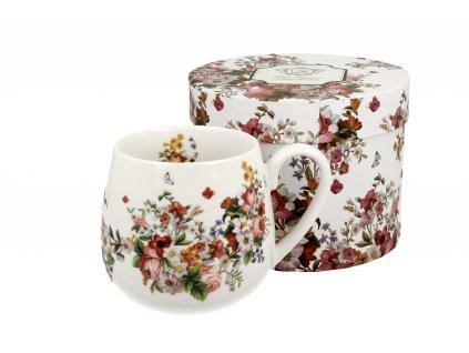 VINTAGE FLOWERS WHITE hrnek baculka 430 ml od duo
