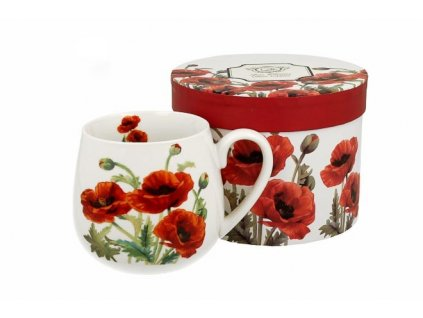 H190 CLASSIC POPPIES Hrnek na čaj baculka 430 ml od DUO