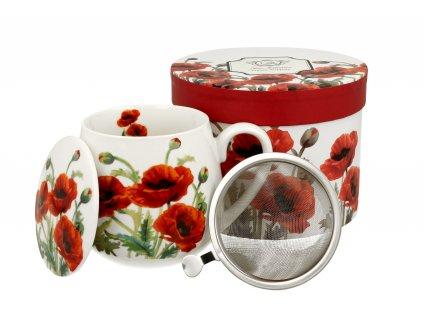 Hrnek na čaj se sítkem a víčkem baculka 430 ml od DUO