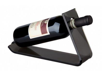 Stojan na 1 láhev vína ( 27,5x33x17cm) akrylik, šedá - by inspire