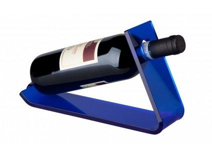 Stojan na 1 láhev vína ( 27,5x33x17cm) akrylik, modrá - by inspire