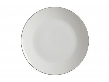 FX0022 Bílý porcelánový talíř na dezerty z kolekce porcelánu EDGE od Maxwell and Williams