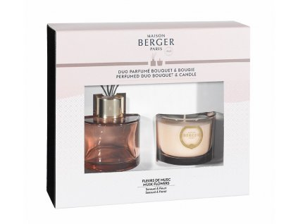 6618 SENSO NUDE difuzér s náplní Květy Pižma a svíčkou od Maison Berger Paris