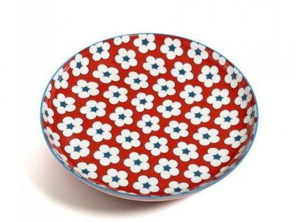 CV11018 Porcelánový talíř 18,5 cm červený z kolekce Cotton Bud od Maxwell and Williams.
