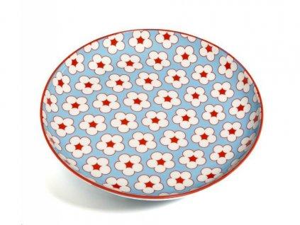 CV13018 Porcelánový talíř 18,5 cm světle modráz kolekce Cotton Bud od Maxwell and Williams.