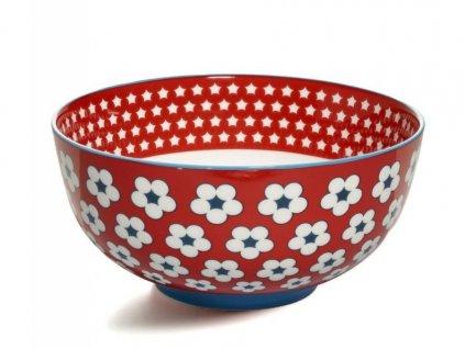 CV11118 Porcelánová miska 18 cm červená z kolekce Cotton Bud od Maxwell and Williams.