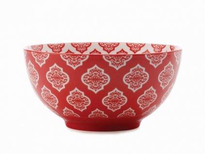 CV33115 Porcelánová miska 15,5 cm červená z kolekce Alcazar Rd Circ od Maxwell and Williams.