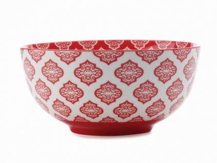 CV33118 Porcelánová miska 18 cm červená z kolekce Alcazar Red Circ od Maxwell and Williams.