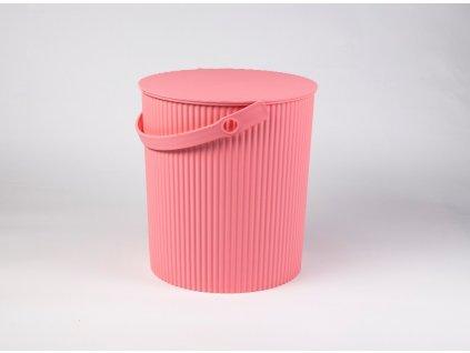 Úložný box/stupínek/sedátko 3 v 1 růžový - by inspire