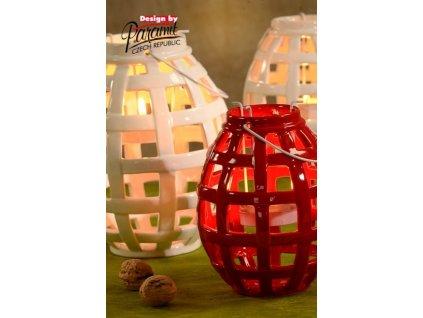 Lucerna Berta červená 16 cm  - Paramit - 5127-16R
