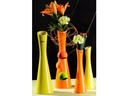 Link váza oranžová 35 cm