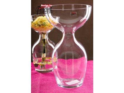 Oflana váza sklo 34 cm