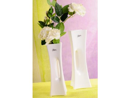 58 25W X váza bílá 30 cm