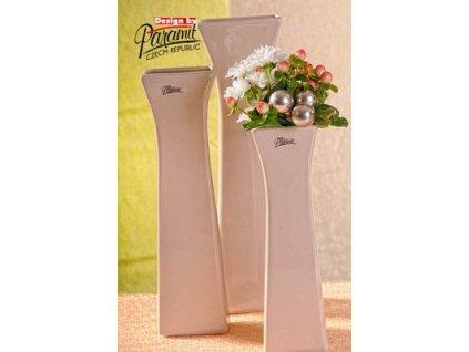 Cedreta váza béžová 25 cm  - Paramit - 11062-25C