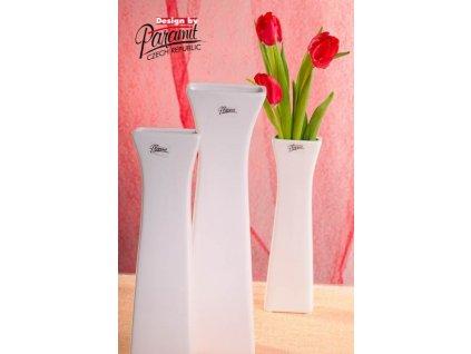 Cedreta váza bílá 30 cm  - Paramit - 11062-30