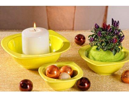 Cog aranžovací miska hluboká zelená 15 cm