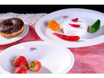 6301 27W Ovalek jídelní talíř bílý 27 cm