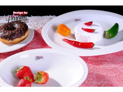 Ovalek jídelní talíř bílý 27 cm