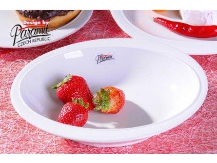 Ovalek polévkový talíř bílý 23 cm
