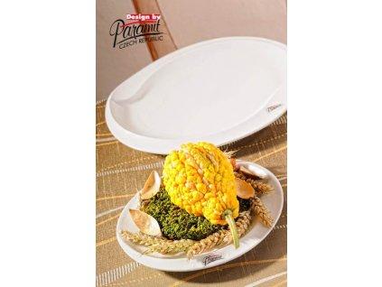 Esíčko dezertní talíř bílý 20 cm