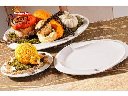 Esíčko extra velký jídelní talíř bílý 36 cm