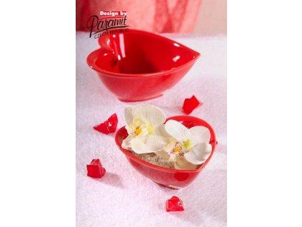 Srdíčko miska červená 10 cm
