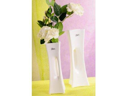 58 25W X váza bílá 25 cm