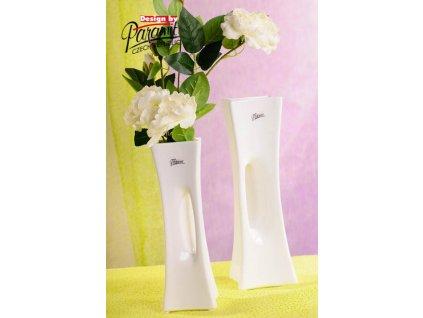 X-Vase váza bílá 25 cm