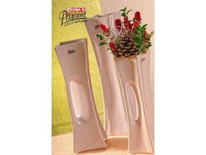 X-Vase váza béžová 30 cm