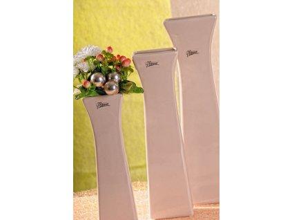 11062 35C Cedreta váza béžová 35 cm