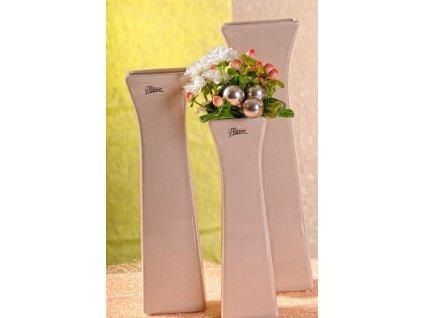 11062 30C Cedreta váza béžová 30 cm