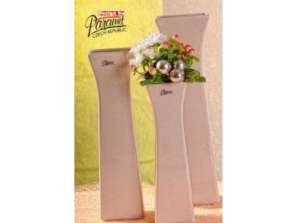 Cedreta váza béžová 30 cm  - Paramit - 11062-30C