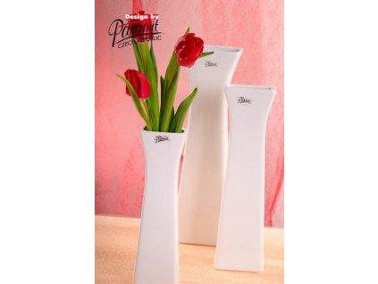 Cedreta váza bílá 25 cm  - Paramit - 11062-25