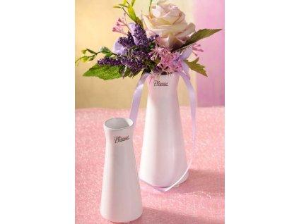 520 13W 2 Kapucín váza bílá 12,5 cm