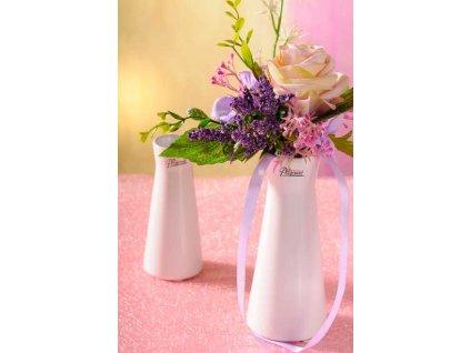 Kapucin váza porcelán bílá 16 cm