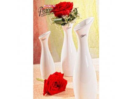 Váza bílá 30 cm Soffi  - Paramit - 11029-30W