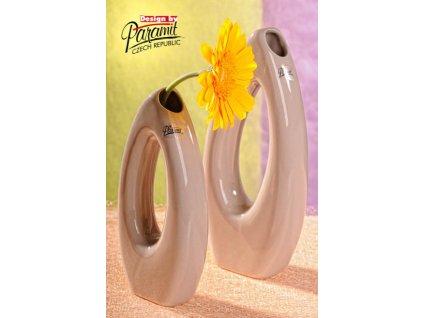 Váza béžová 23 cm Pip