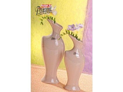Váza béžová 30 cm Žena