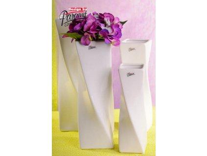 Váza bílá 24 cm Xenie
