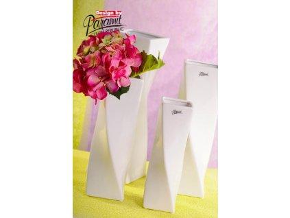 Váza bílá 28 cm Xenie  - Paramit - 11031-28W