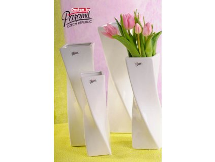 Váza bílá 36 cm Xenie  - Paramit - 11031-36W
