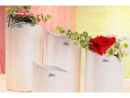 Váza bílá 16 cm Leila