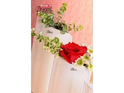 Váza bílá 20 cm Leila
