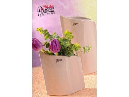 Váza béžová 16 cm Leila