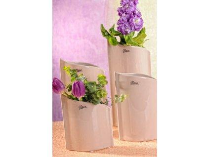 11078 20C Váza béžová 20 cm Leila