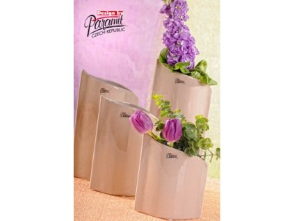 Váza béžová 24 cm Leila