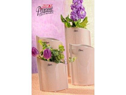 Váza béžová 28 cm Leila