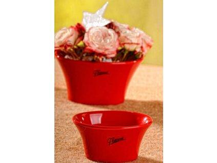 11090 10R Linda aranžovací miska červená 10 cm